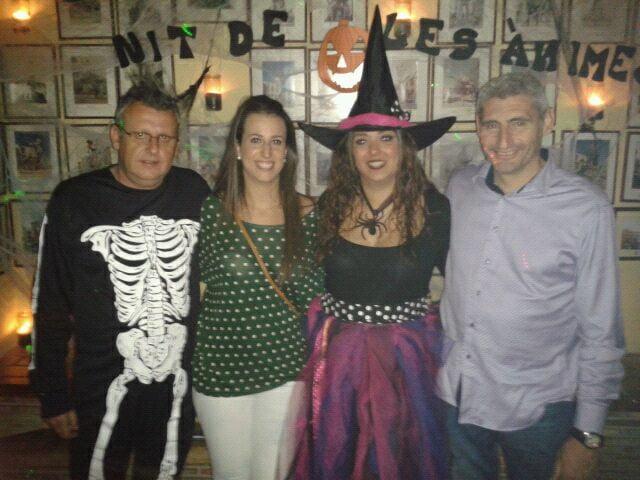 Marta Tabernero y Jaume Bertomeu en el Halloween de la Falla Baix la Mar