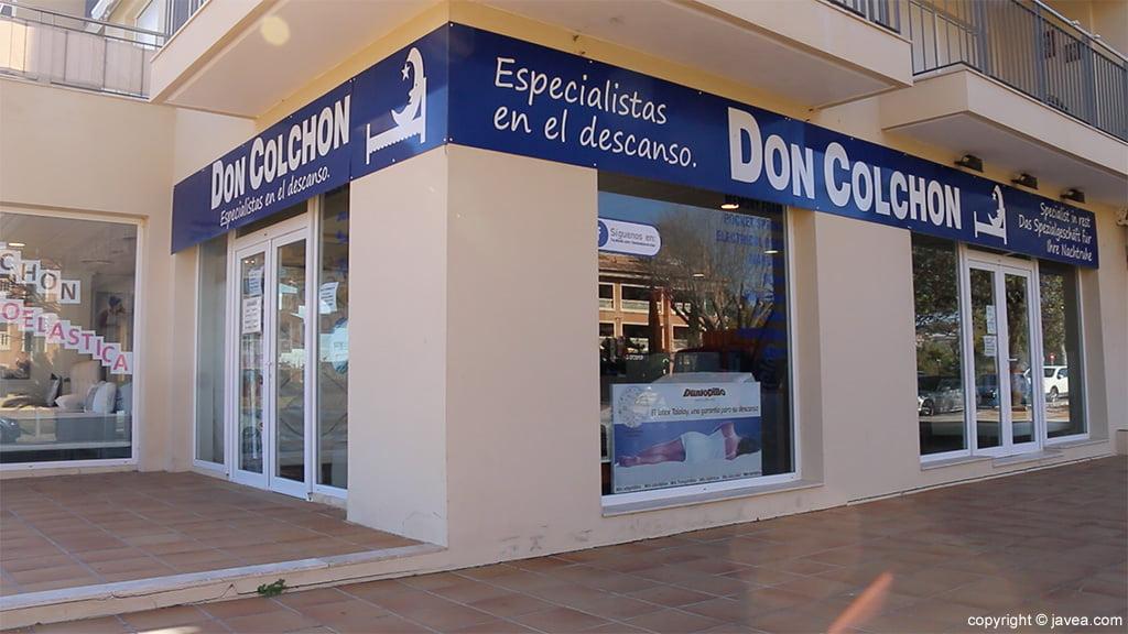 Exterior tienda Jávea Don Colchón