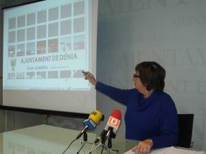 Pepa Font presenta el Plan General de Dénia
