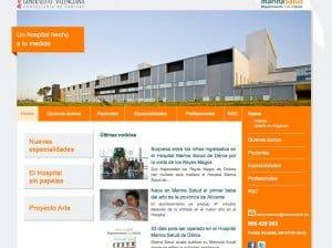 Nueva web del hospital Marina Salud