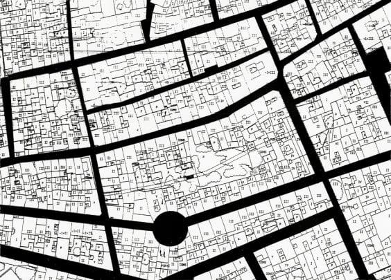 Plano de situación de la calle andalusí de Dénia