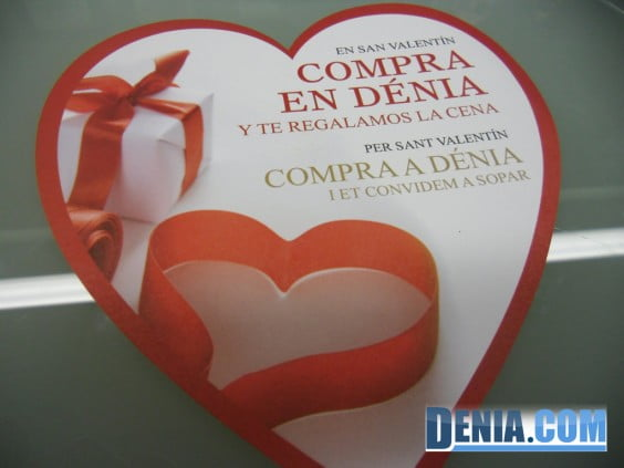 Campaña de San Valentín en los comercios de Dénia