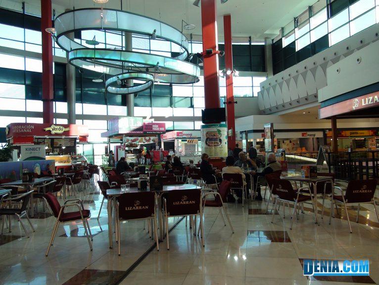 Centre Comercial Portal de la Marina, Zona de descans i Restaurants