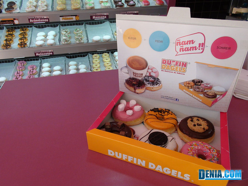 The Duffin Dagels chain is a near exact replica of Dunkin Donuts, with just a few menu and name changes differentiating the two picture