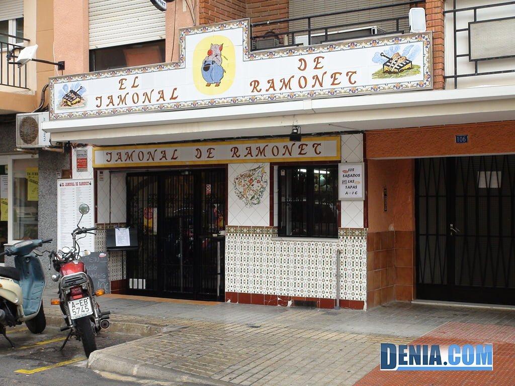 El Jamonal de Ramonet, Dénia Passeig del Saladar
