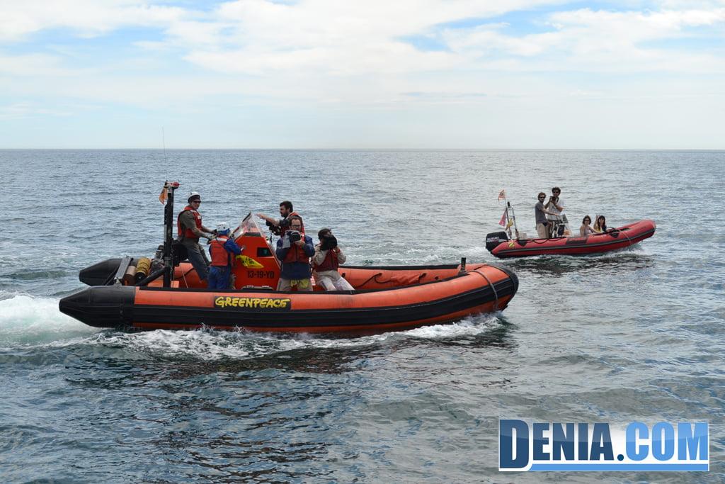 El Arctic Sunrise de Greenpeace visita Dénia 07