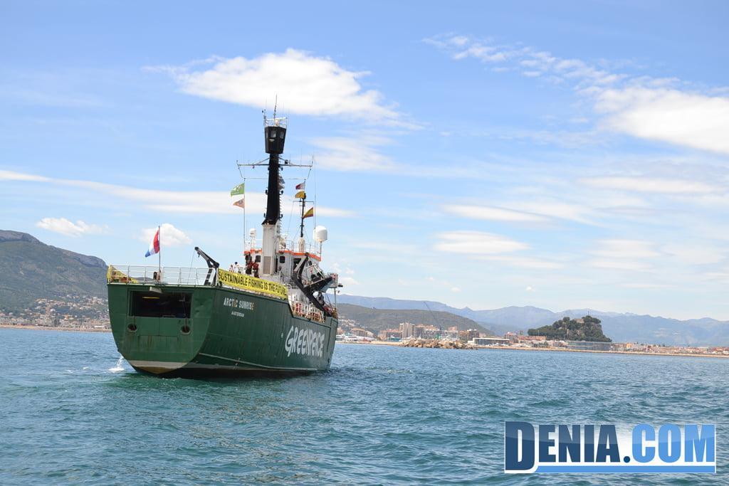 El Arctic Sunrise de Greenpeace visita Dénia 15