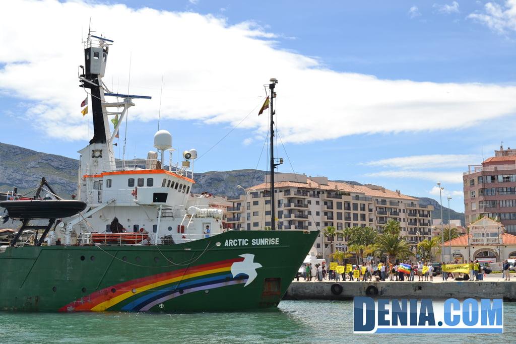 El Arctic Sunrise de Greenpeace visita Dénia 34