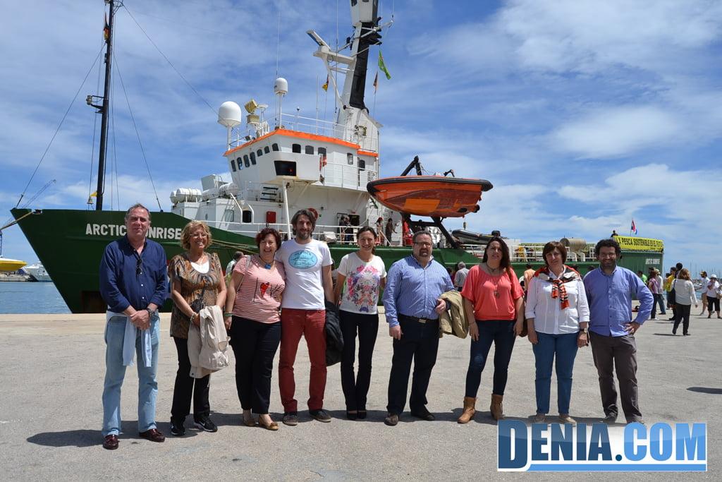 El Arctic Sunrise de Greenpeace visita Dénia 37