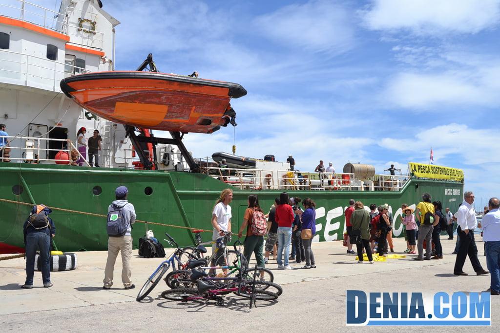 El Arctic Sunrise de Greenpeace visita Dénia 38