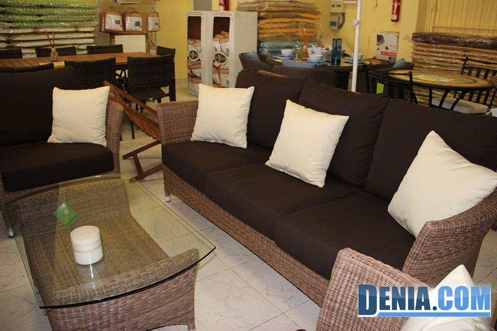 Mobelsol d nia conjunto terraza de sof mesa baja y for Oferta conjunto terraza