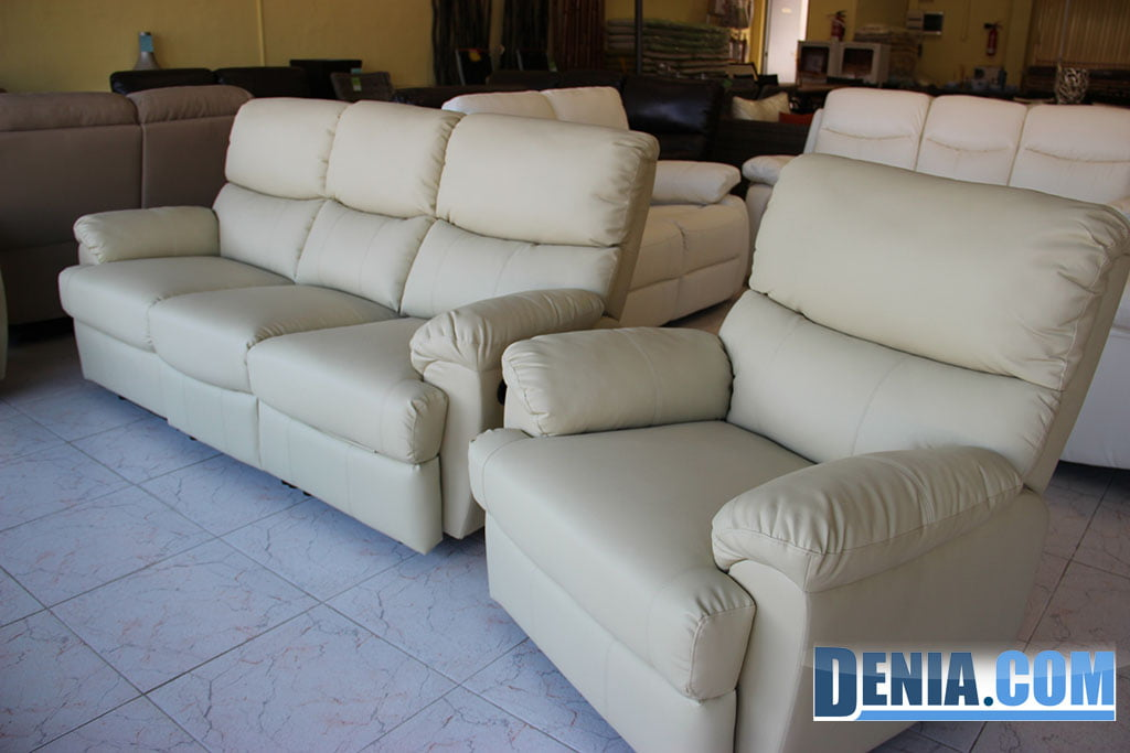Sofas en piel best mobelsol dnia muebles de jardn y - Sofa piel blanco ...