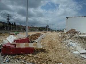 Obras de prolongación de la Avenida Joan Fuster en Dénia 03