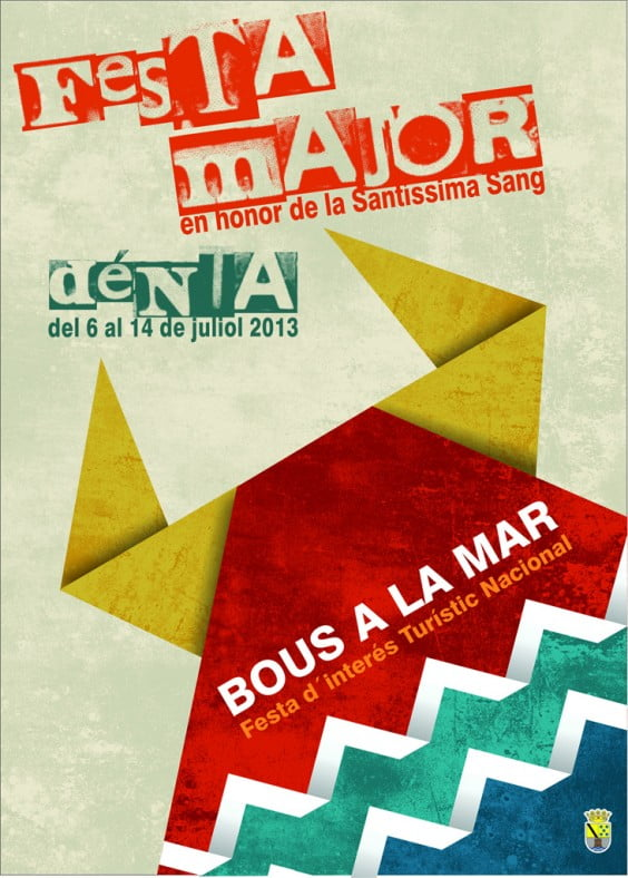 Cartel Fiestas de dénia 2013