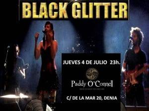 Cooncierto de Black Glitter en Paddy O'Conell, jueves 4 de julio a las 23 horas