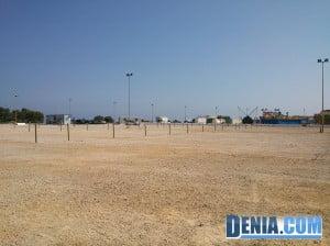 Parking de pago en el Mollet d'Espanya de Dénia