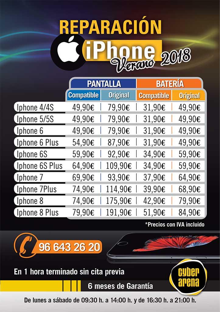 Reparación iPhone en Cyber Arena
