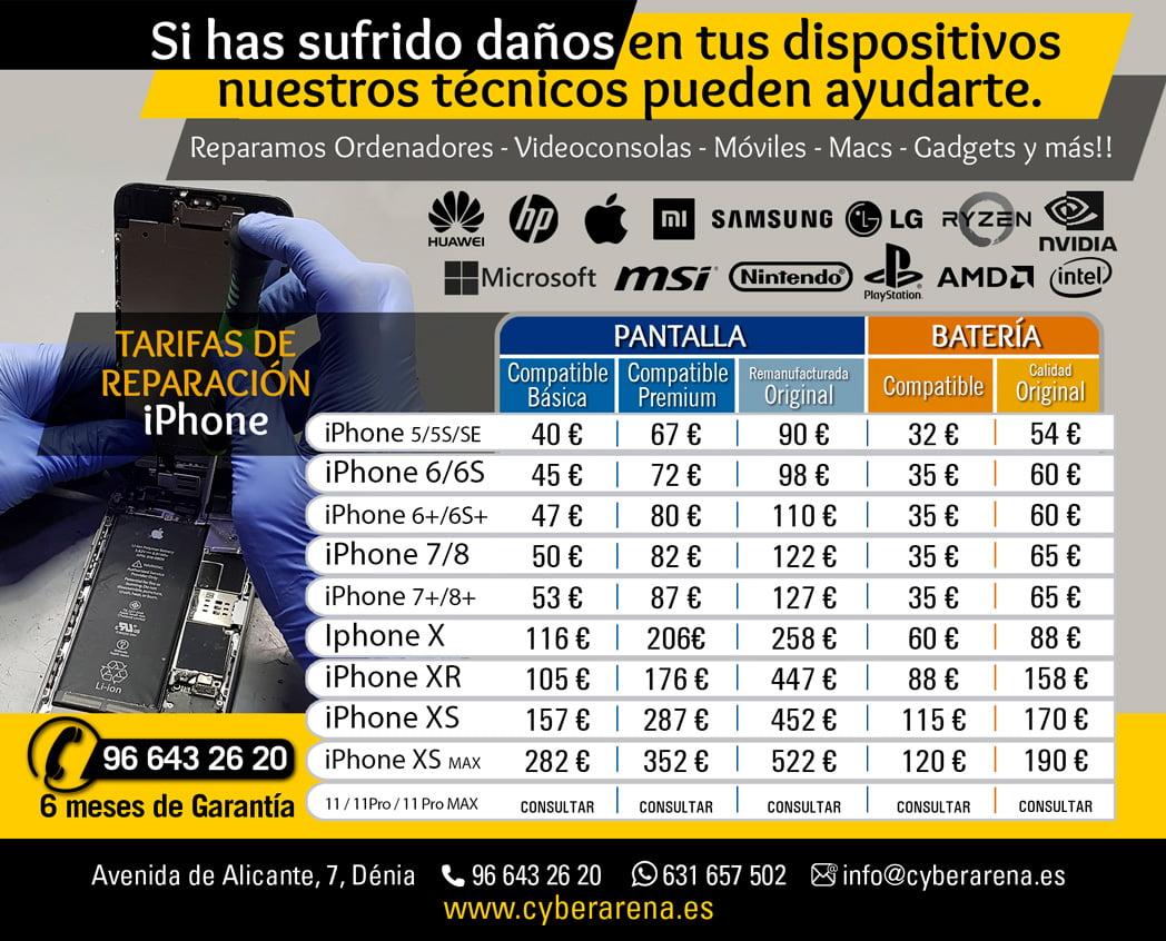 Precios iPhone Cyber Arena