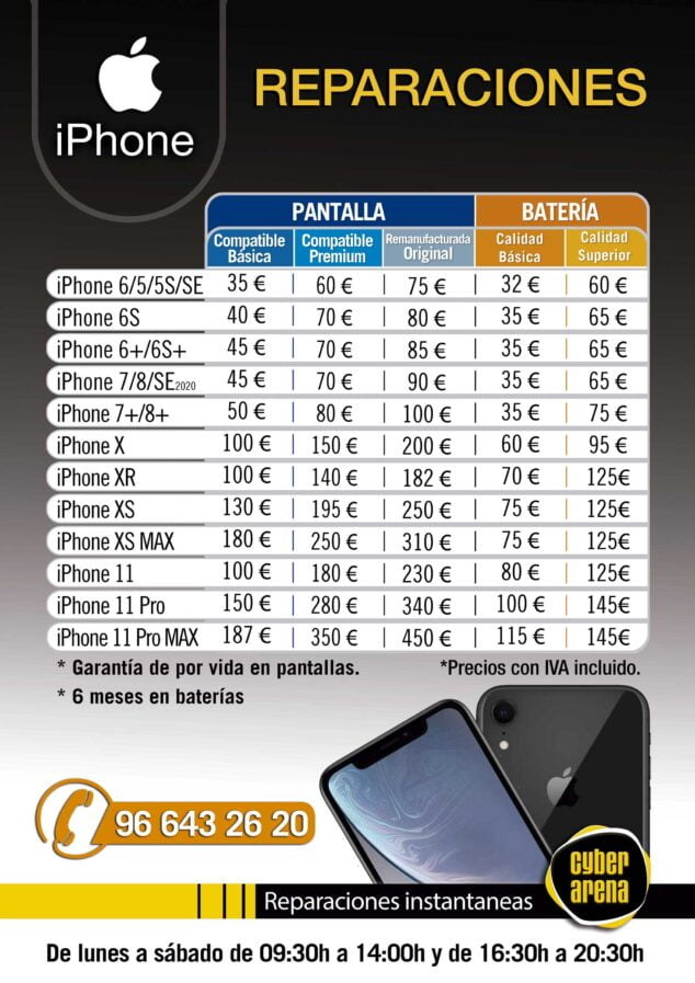 Imagen: Reparaciones iPhone - Cyber Arena