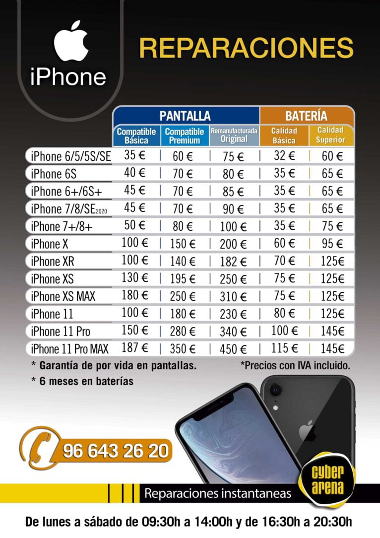 Reparaciones iPhone - Cyber Arena
