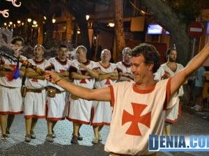 Moros y Cristianos Dénia - Entraeta festera - Filà Templaris