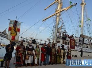 Desembarco de moros y cristianos en el puerto de Dénia