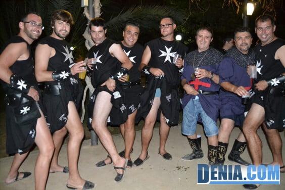 Cena de acampada - Moros y Cristianos Dénia 2013