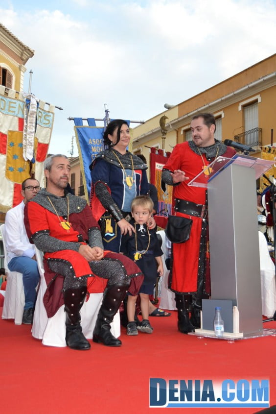 Pregón de Moros y Cristianos Dénia 2013 11 - Vicent Ahuir y su familia
