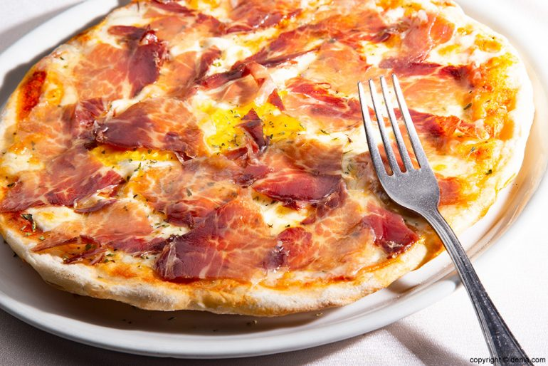 Pizza jamón Sandunga 52