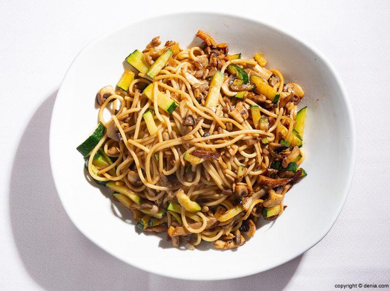 Tagliatelle con verduras Sandunga 52