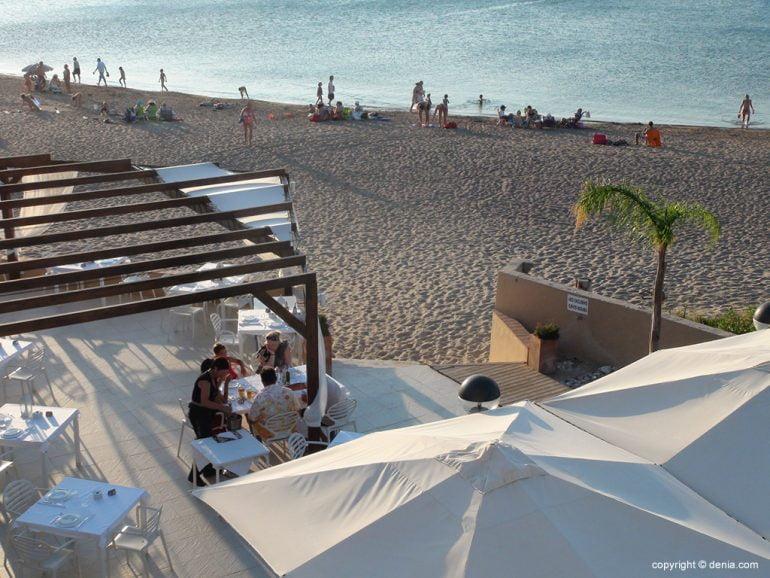 Terrassa de l'Hotel Mar Noguera