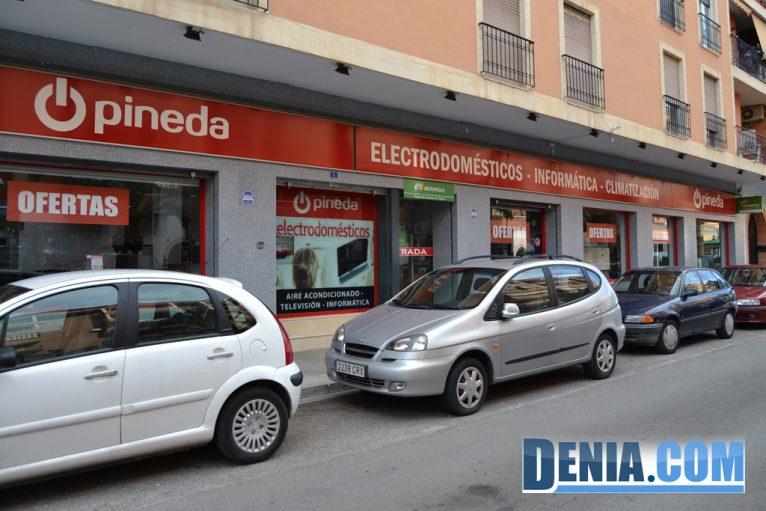 Electrodomésticos Pineda en el Paseo del Saladar de Dénia