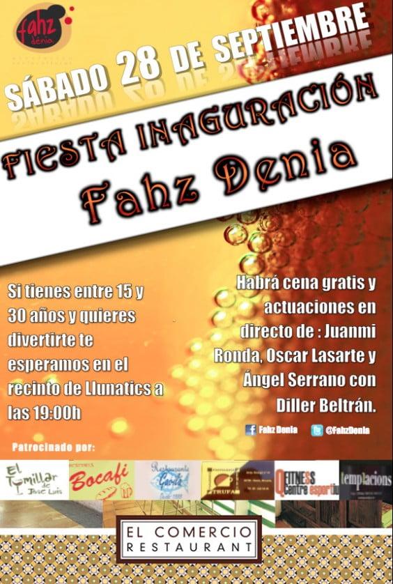 Inauguración de la asociación de jóvenes Fahz en Dénia