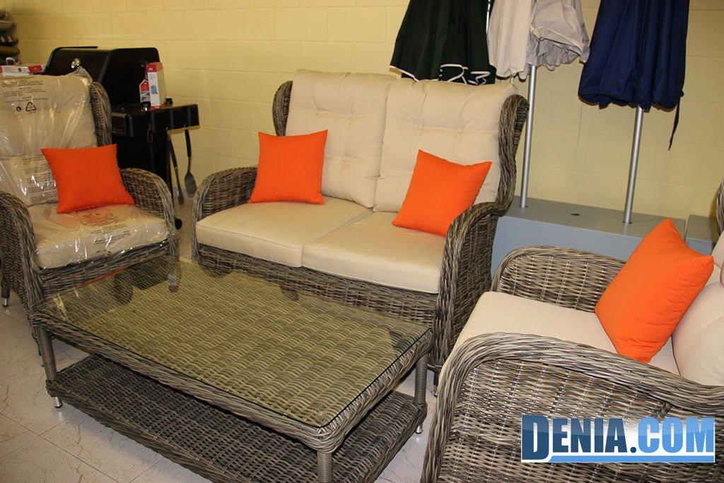 Mobel sol d nia muebles de exterior conjunto de sof for Sillones de plastico para terrazas