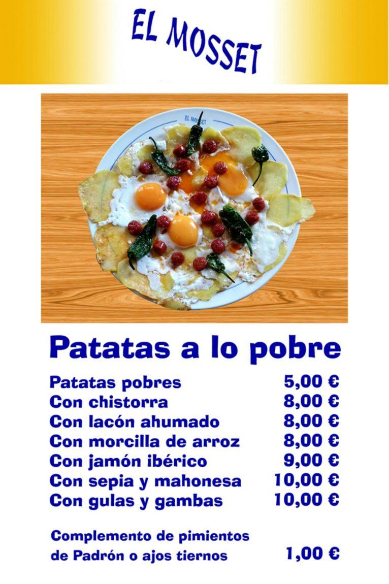 Patatas a lo pobre en El Mosset