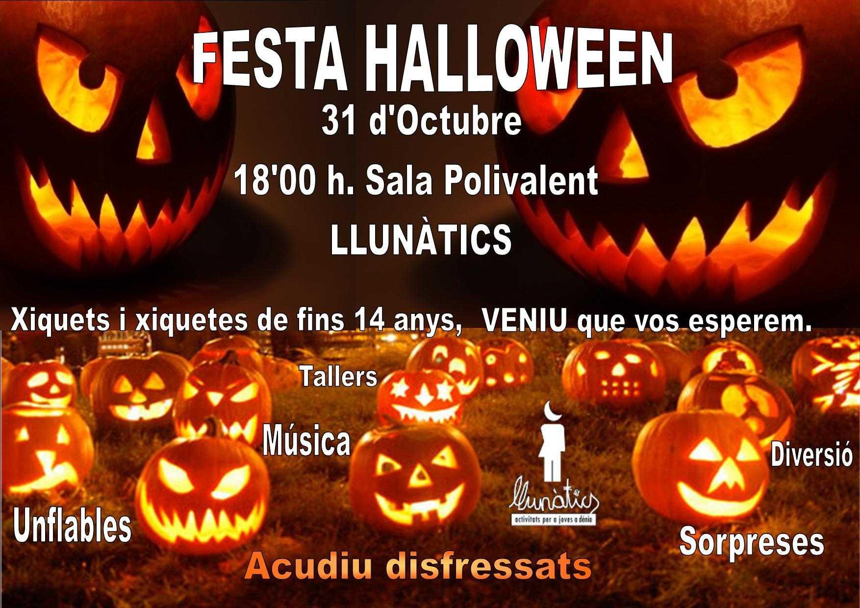 children's halloween party in llunátics - dénia