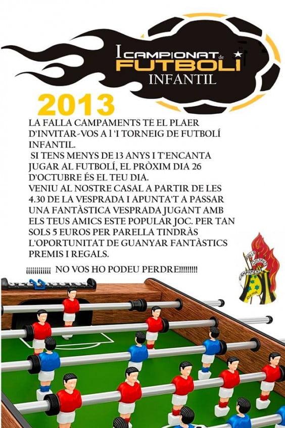 I Campeonato Infantil de Futbolín