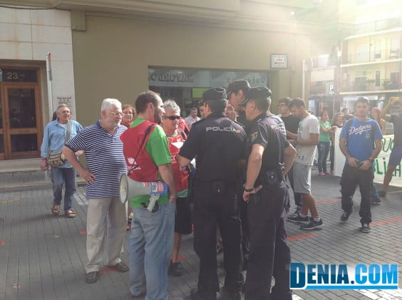 The National Police arrested the street manifesantes Diana