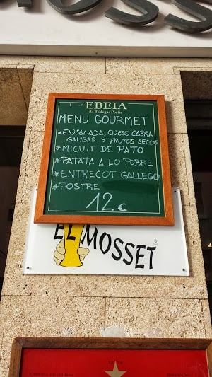 Menu the Mosset Gourmet by 12 euros