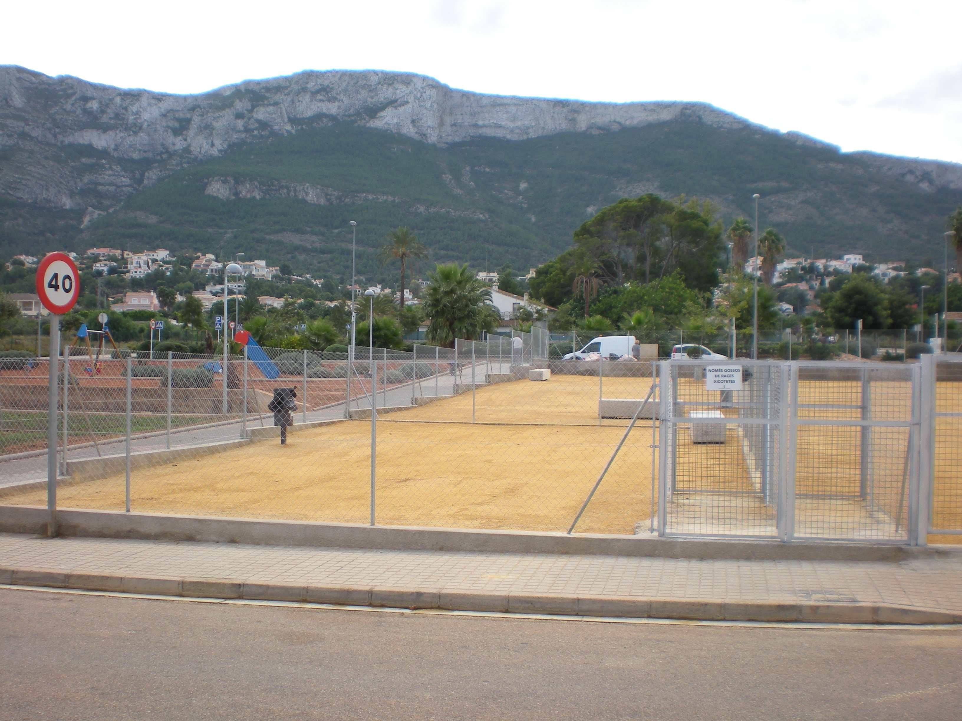 Nuevo parque para perros en la zona de La Pedrera de Dénia