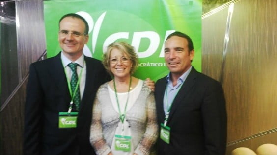 Sergio Benito Mari Martínez y Toni Woodward en el Congreso provincial del CDL