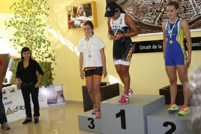 Andrea Fernández took the podium in Cheste and Vinaroz