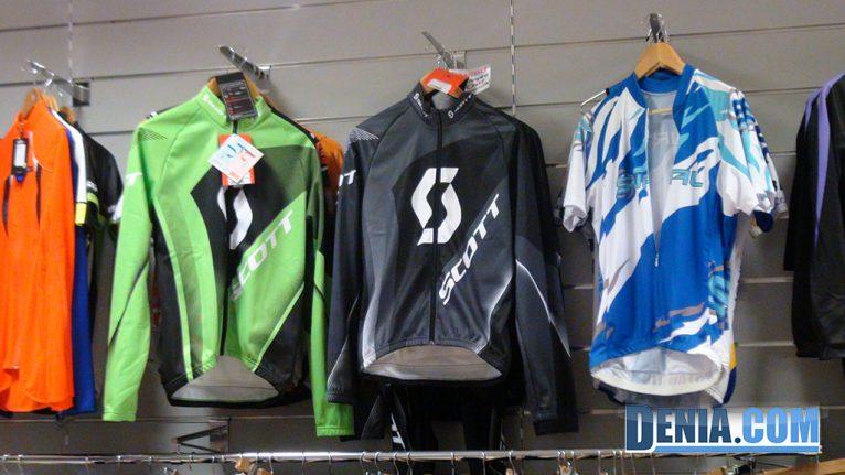 Cicles Desnivell, roba per a ciclistes, mallots