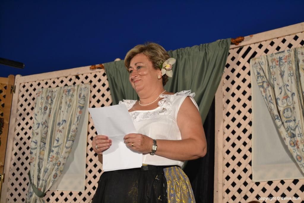 Presentadora del sainete de la ermita de San Juan