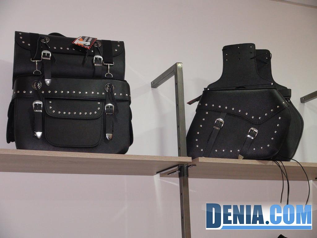 Alforjas de piel custom en Costa Blanca Moto Store