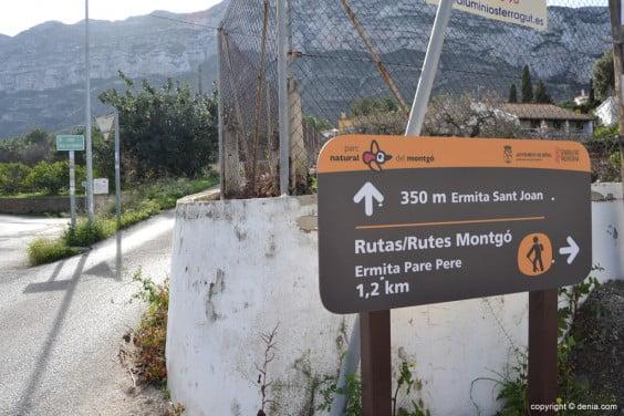 Access road to the hermitage of San Juan de Dénia