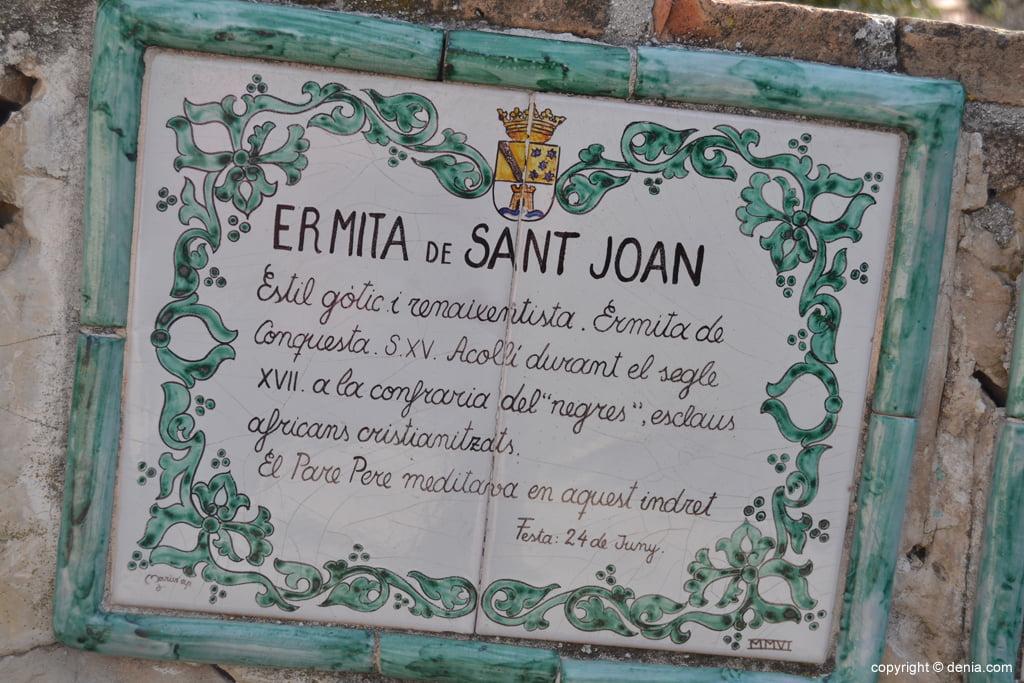 Explicación de la ermita de San Juan de Dénia