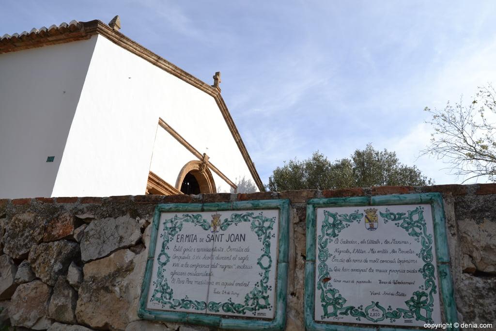 Inscripciones en la ermita de san juan de Dénia