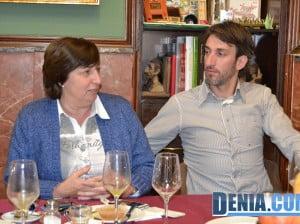 Pepa Font y Juan Carlos Signes durante el desayuno con la prensa