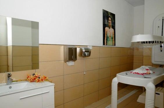 Sala de masajes en el Centro Deportivo Dénia